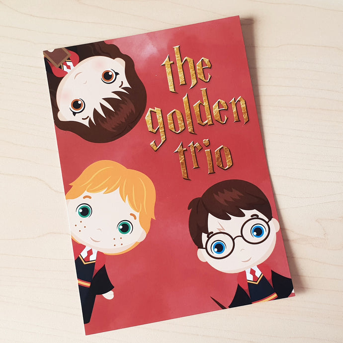 'Golden Trio' A6 Print