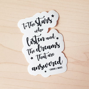 ACOTAR Quote Die-Cut Sticker
