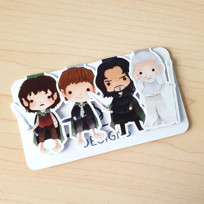 LOTR Magnetic Bookmarks - Set of 4