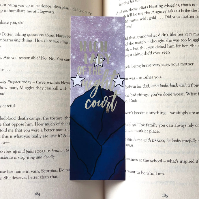 High Lady of the Night Court Foiled Bookmark
