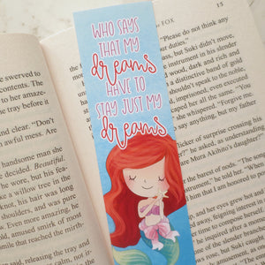 Little Mermaid Quote Bookmark