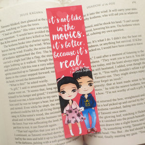 To All The Boys I've Loved Before Quote Bookmark