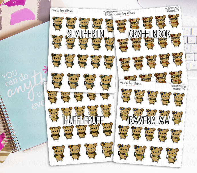 Wizard Lucy the Bear // Planner Stickers