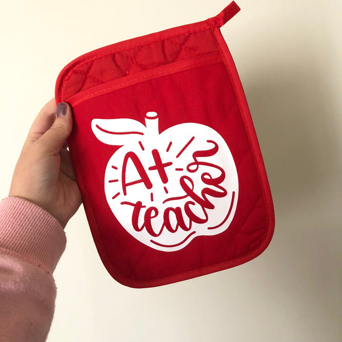 A+ Teacher Pot Holder Oven Mit