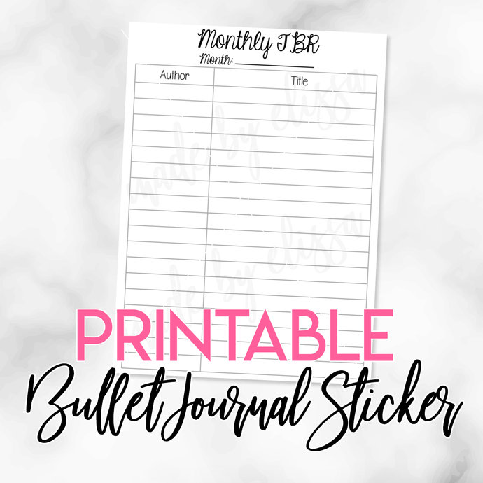 PRINTABLE Monthly TBR (List Format) Planner Insert (A5 Size)