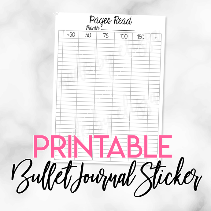 PRINTABLE Pages Read Planner Insert (A5 Size)