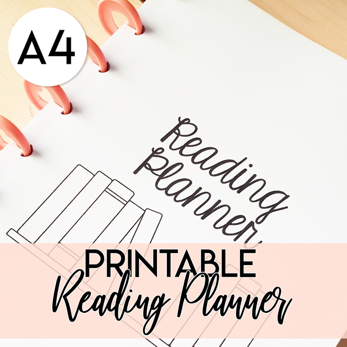 Reading Planner PRINTABLE (A4 size PDF)