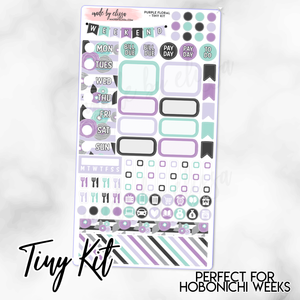 Purple Floral Weekly TINY KIT