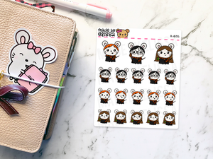 Ruby Potter Wizard // Planner Stickers