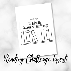PRINTED 12 Month Reading Challenge Planning Insert - B6 or A6