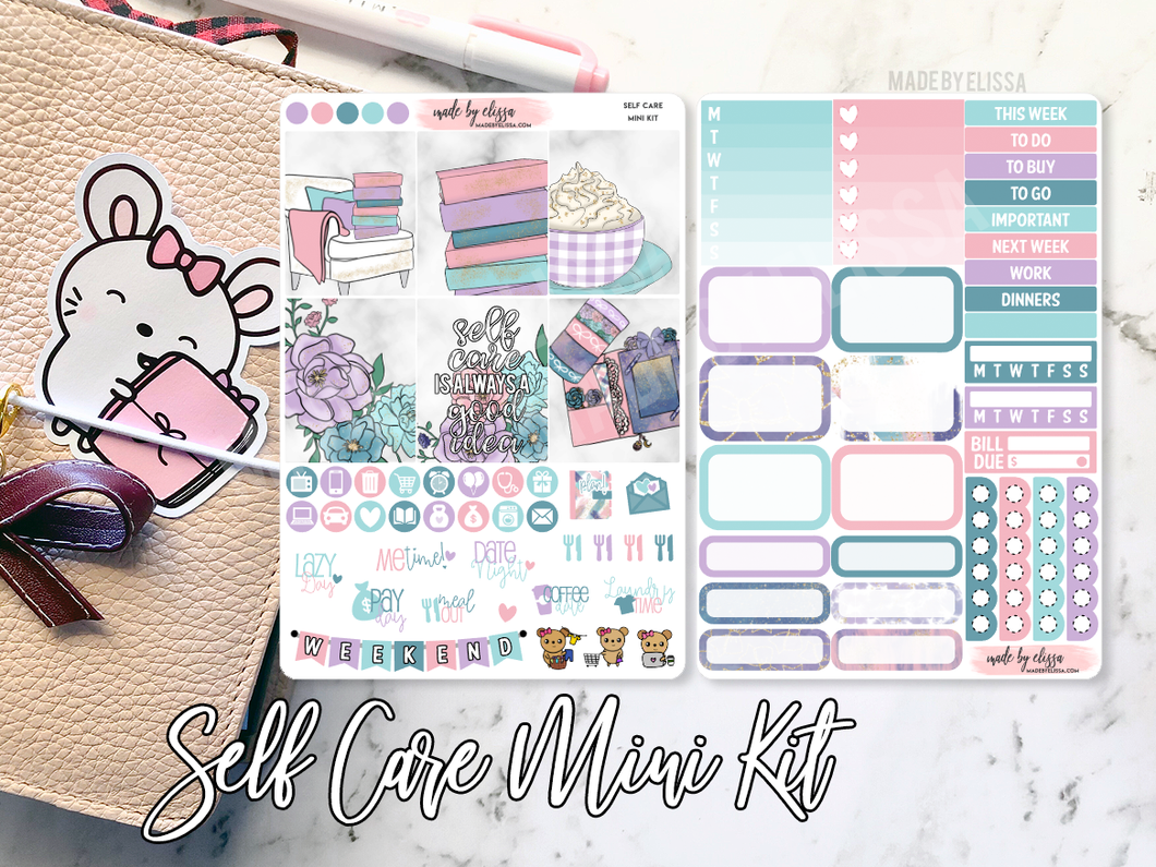 Self Care Mini Weekly Sticker Kit