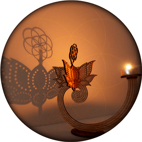 lotus candle seed light