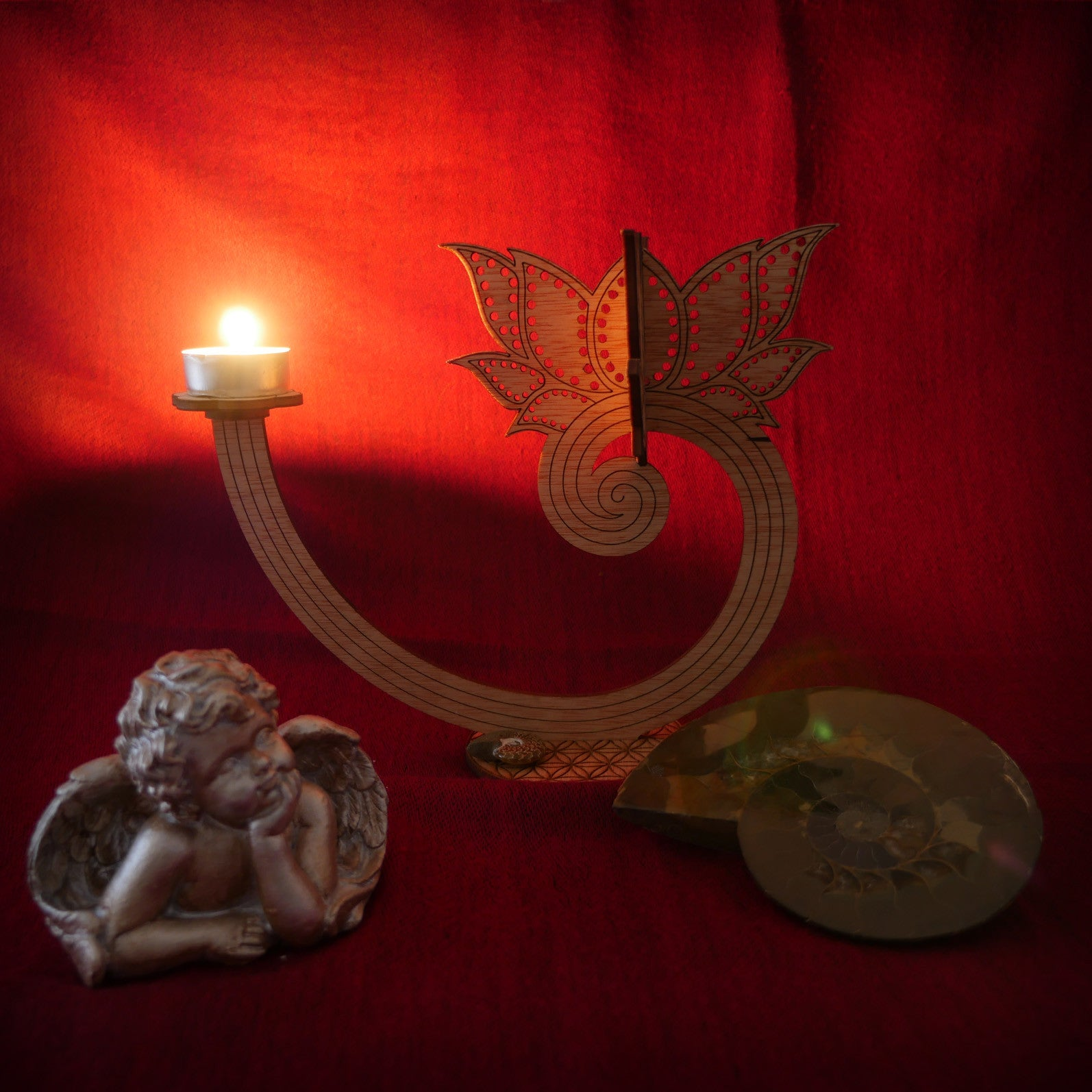 lotus candle, enlightenment light