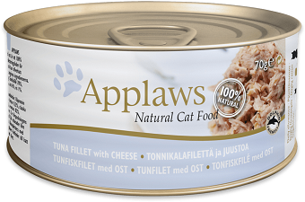 Applaws Cat food - Tuna Fillet with Cheese 70g x 24 Tins