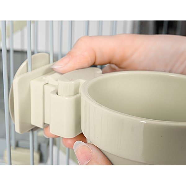 Zolux Door Fitting Grey Water Bowl 300ml