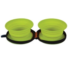 Petmate Silicone 1.5 cup Travel Bowl Duo (23592)