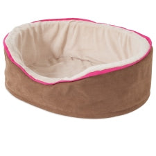 Aspen Pet Plush Suede Oval Lounger Bed Medium 27174