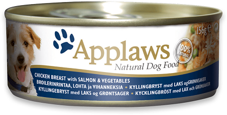 Applaws Dog Food - Chicken with Salmon & Vegetables 12 x 156g tins