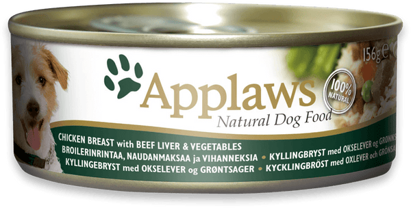 Applaws Dog Food - Chicken with Beef Liver & Vegetables 12 x 156g tins