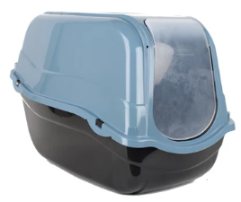 Hooded Cat Litter Tray Eco Blue