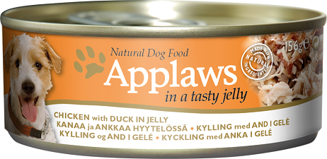 Applaws Dog Food - Chicken Duck in Jelly 12 x 156g tins
