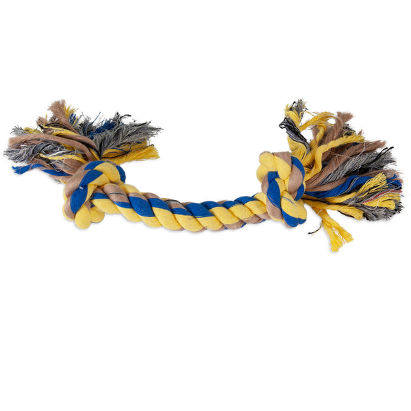 Booda 2 Knot Rope Tug Coloured Large 50773
