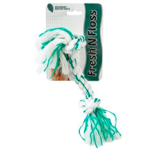 Booda Fresh N Floss Spearmint 2-Knot Rope Medium 52302