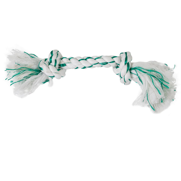 Booda Fresh N Floss Spearmint 2-Knot Rope X-Large 52304