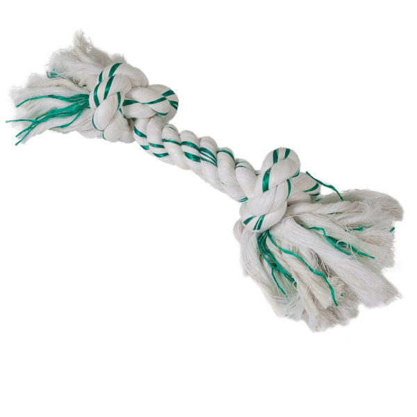 Booda Fresh N Floss Spearmint 2-Knot Rope Large 52303