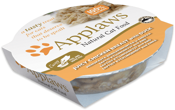 Applaws Cat Food - Chicken Breast with Duck 60g pot x 10