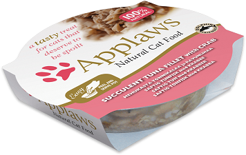 Applaws Cat Food - Tuna Fillet with Crab 60g x 10