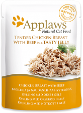 Applaws Cat Food - Chicken with Beef in Jelly 70g pouches x 16