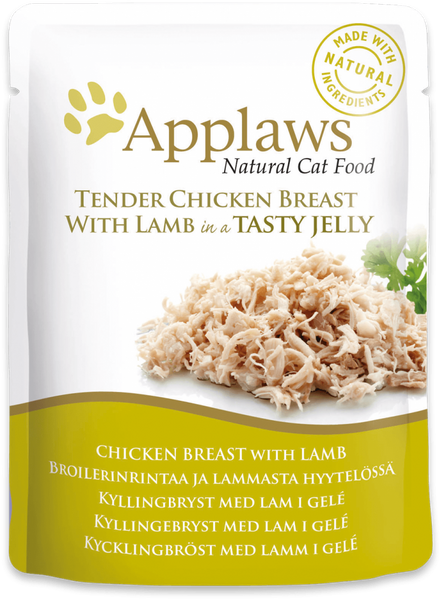 Applaws Cat Food - Chicken Breast with Lamb in Jelly 70g pouch x 16