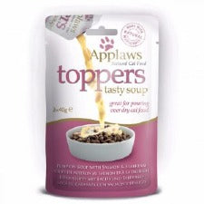 Applaws Cat Food - Toppers Soup Pumpkin with Salmon & Smoked Tuna 3 x 40g