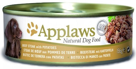 Applaws Dog Food - Beef Steak & Potatoes 12 x 156g tins