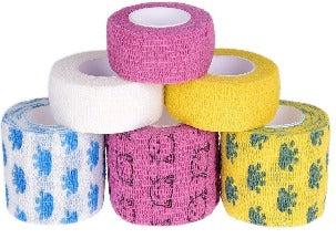 "2 x Self Adhering Bandage - 2 piece - 1 each 1"" & 2"" Tape"