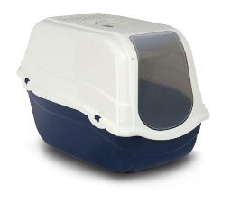 Hooded Cat Litter Tray - Blue