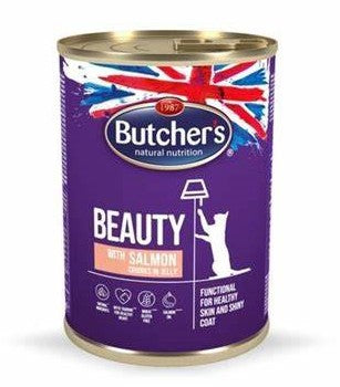Butchers Beauty Cat - Salmon in Jelly 400g can