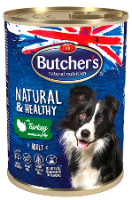Butcher's Natural & Healthy Chunks in Jelly with Turkey 400g