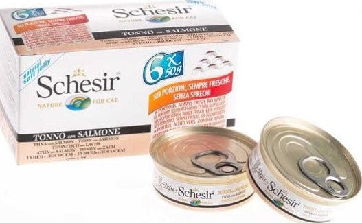Schesir Cat - Tuna & Salmon 6 x 50g