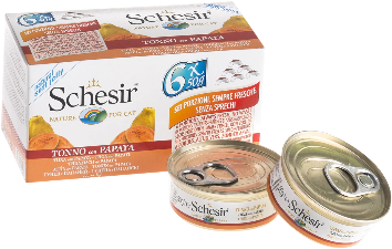 Schesir Cat - Tuna & Papaya 6 x 50g