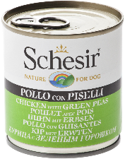 Schesir Dog - Chicken & Green Peas 285g Tin