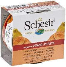 Schesir Dog - Chicken & Papaya 150g Tin