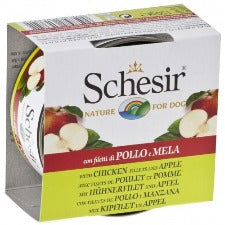 Schesir Dog - Chicken & Apple 150g Tin