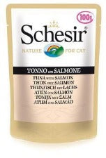 Schesir Cat - Tuna & Salmon 100g Pouch
