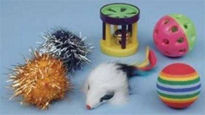 Value Pack of 6 Cat Toys