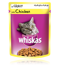 Whiskas® Tender Bites Chicken Gravy 85g pouch