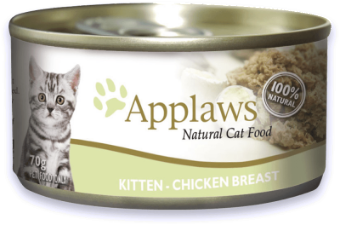 Applaws Kitten food -  Chicken Breast 70g tin x 24