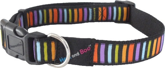 "Hem & Boo Small Multi Coloured 1/2"" Collar"