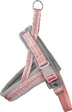 Hem & Boo Medium Pink Reflective Harness
